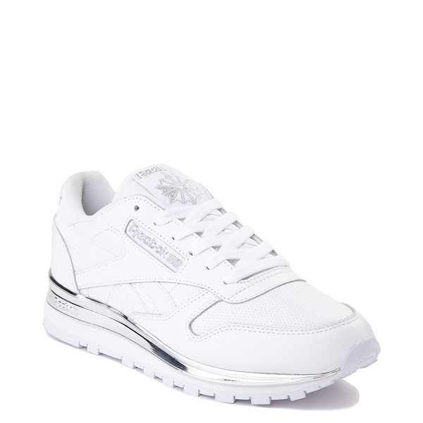 alternate view Womens Reebok Classic Athletic Shoe - White / ChromeALT5