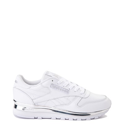 Main view of Womens Reebok Classic Athletic Shoe - White / Chrome