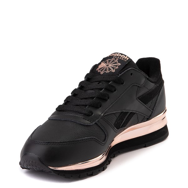 alternate view Womens Reebok Classic Athletic Shoe - Black / Rose GoldALT2