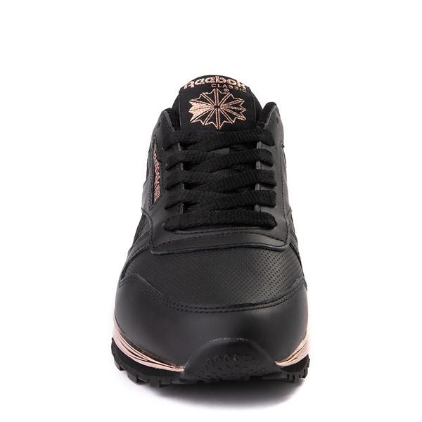 alternate view Womens Reebok Classic Athletic Shoe - Black / Rose GoldALT4
