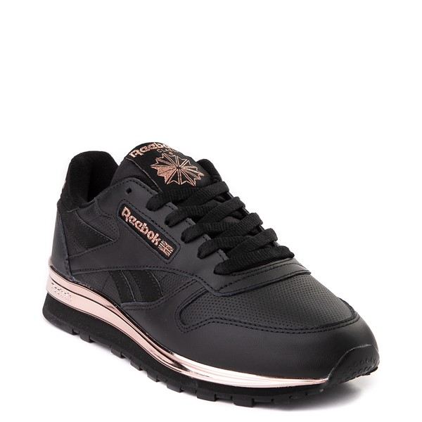 alternate view Womens Reebok Classic Athletic Shoe - Black / Rose GoldALT5