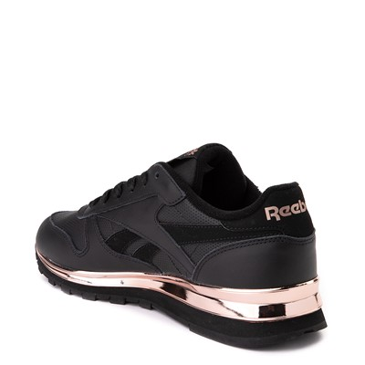 Alternate view of Womens Reebok Classic Athletic Shoe - Black / Rose Gold