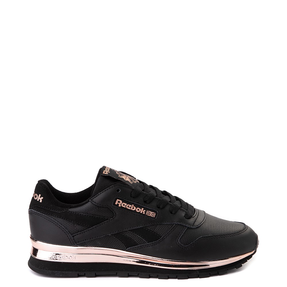 Womens Reebok Classic Athletic Shoe - Black / Rose Gold