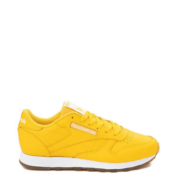 Womens Reebok Classic Athletic Shoe - Toxic Yellow / Gum