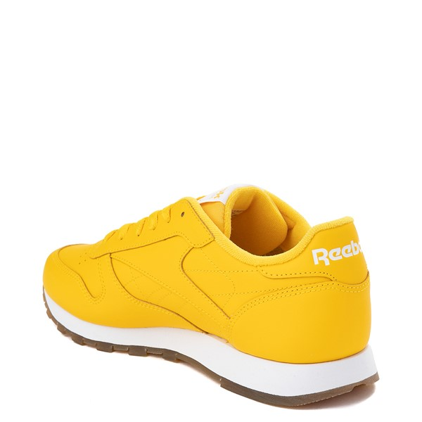 alternate view Womens Reebok Classic Athletic Shoe - Toxic Yellow / GumALT1
