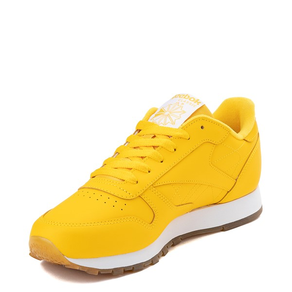 alternate view Womens Reebok Classic Athletic Shoe - Toxic Yellow / GumALT2