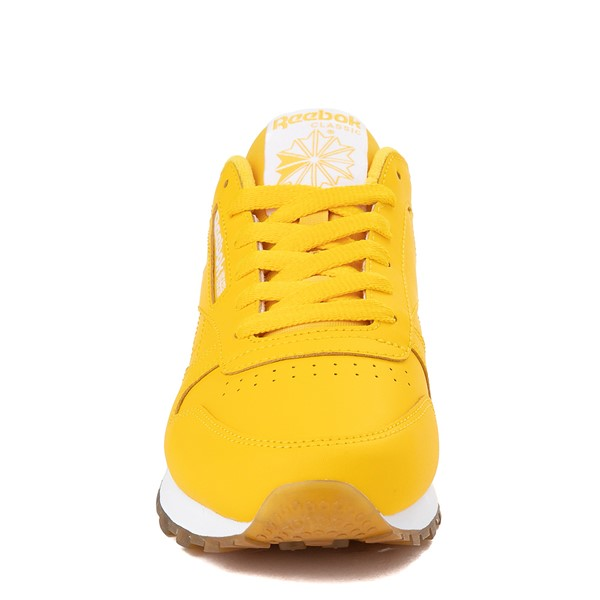 alternate view Womens Reebok Classic Athletic Shoe - Toxic Yellow / GumALT4