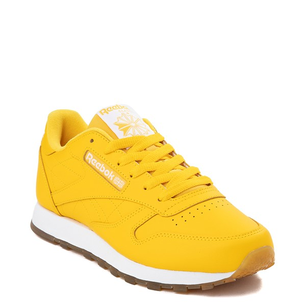 alternate view Womens Reebok Classic Athletic Shoe - Toxic Yellow / GumALT5