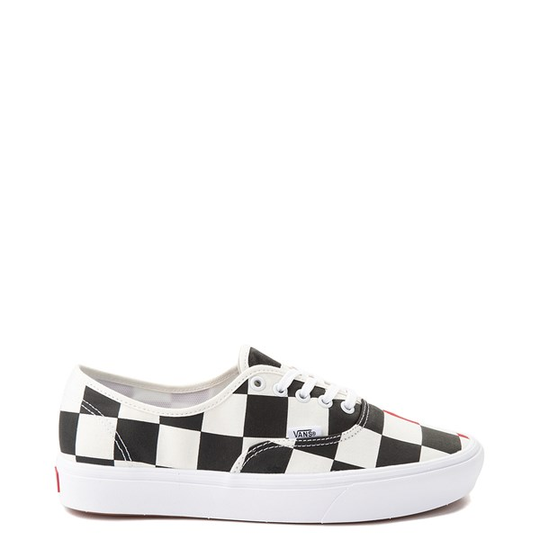 Vans Authentic ComfyCush® Big Checkerboard Skate Shoe - Black / Red / White