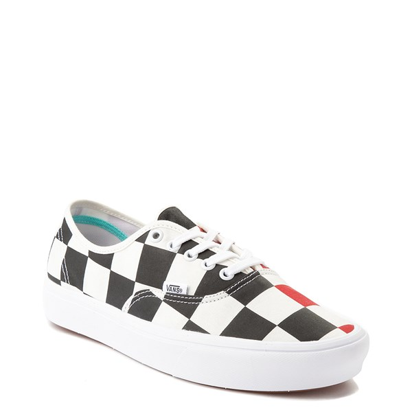 alternate view Vans Authentic ComfyCush® Big Checkerboard Skate Shoe - Black / Red / WhiteALT1B