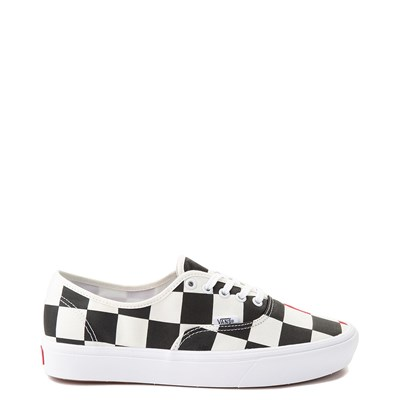 Main view of Vans Authentic ComfyCush® Big Checkerboard Skate Shoe - Black / Red / White