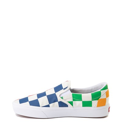 Alternate view of Vans Slip On ComfyCush® Big Checkerboard Skate Shoe - Multi