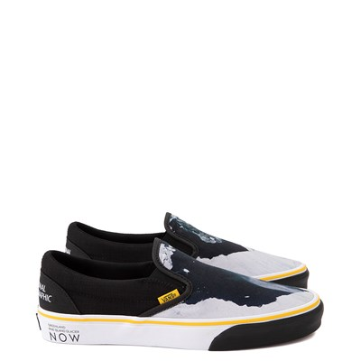 Main view of Vans x National Geographic Slip On Glaciers Skate Shoe - Black