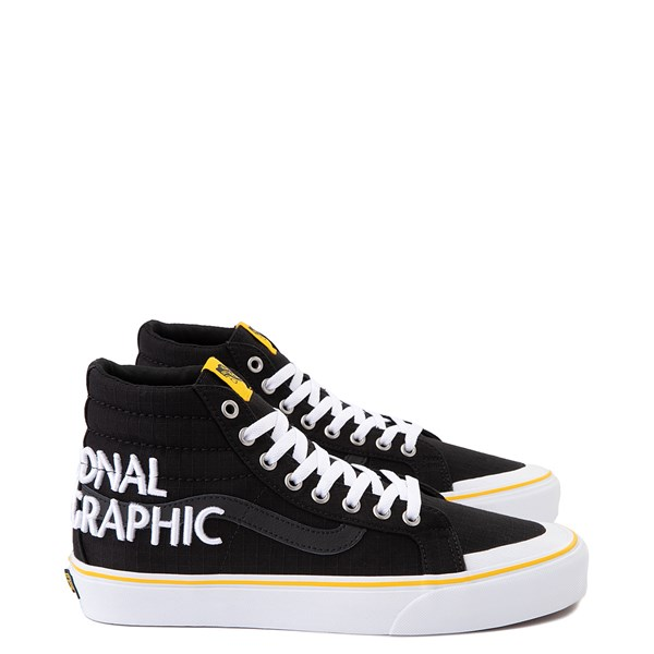 Main view of Vans x National Geographic Sk8 Hi 138 Reissue Logo Skate Shoe - Black