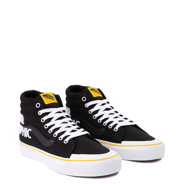 alternate view Vans x National Geographic Sk8 Hi 138 Reissue Logo Skate Shoe - BlackALT1
