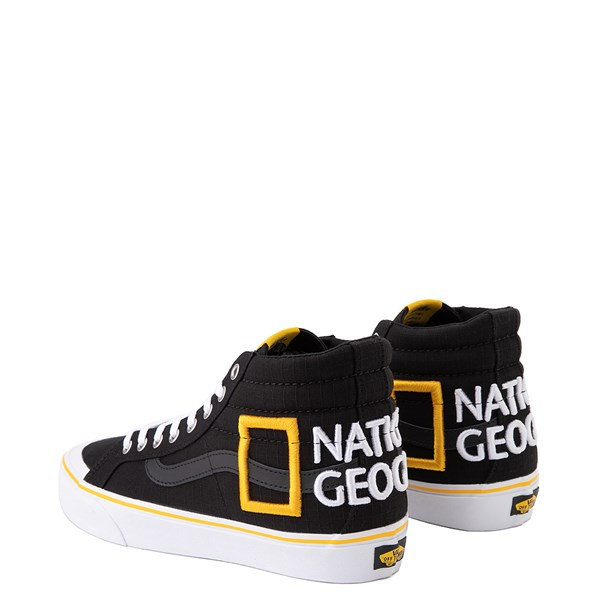 alternate view Vans x National Geographic Sk8 Hi 138 Reissue Logo Skate Shoe - BlackALT2