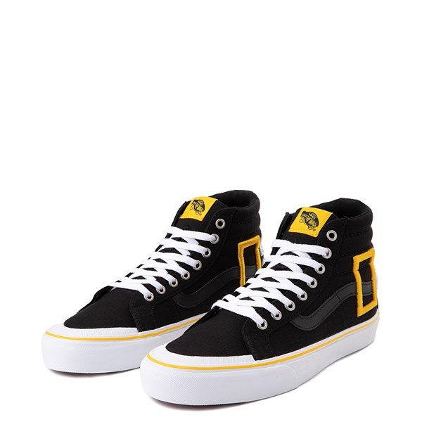 alternate view Vans x National Geographic Sk8 Hi 138 Reissue Logo Skate Shoe - BlackALT3