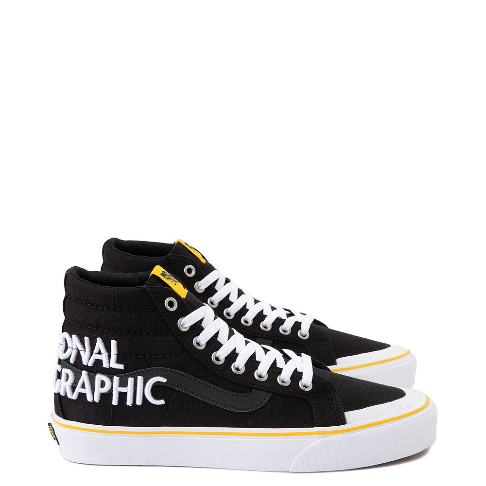 Vans x National Geographic Sk8 Hi 138 Reissue Logo Skate Shoe - Black