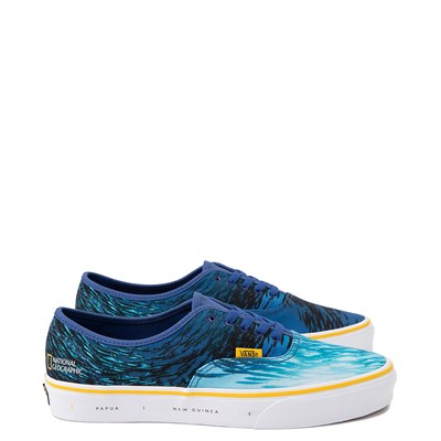 Main view of Vans x National Geographic Authentic Ocean Skate Shoe - Blue