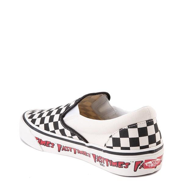 alternate view Vans Anaheim Factory Slip On Fast Times Checkerboard Skate Shoe - Black / WhiteALT2