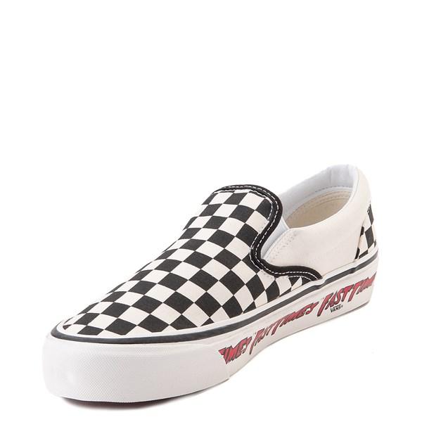 alternate view Vans Anaheim Factory Slip On Fast Times Checkerboard Skate Shoe - Black / WhiteALT3