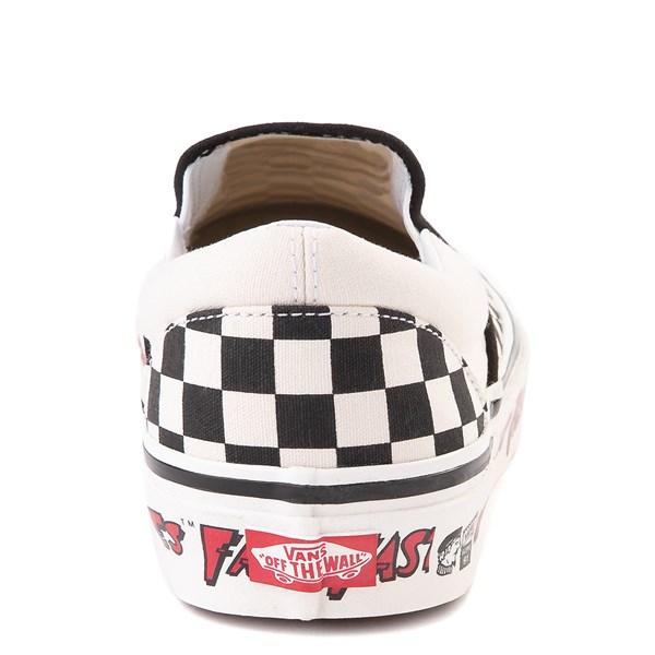 alternate view Vans Anaheim Factory Slip On Fast Times Checkerboard Skate Shoe - Black / WhiteALT7
