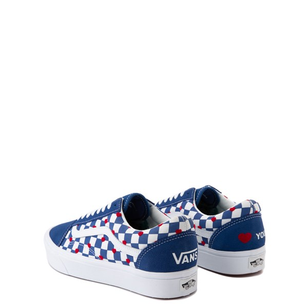 alternate view Vans Old Skool ComfyCush® Autism Awareness Checkerboard Skate Shoe - Blue / WhiteALT2