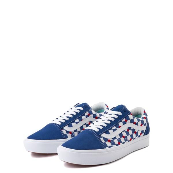 alternate view Vans Old Skool ComfyCush® Autism Awareness Checkerboard Skate Shoe - Blue / WhiteALT3