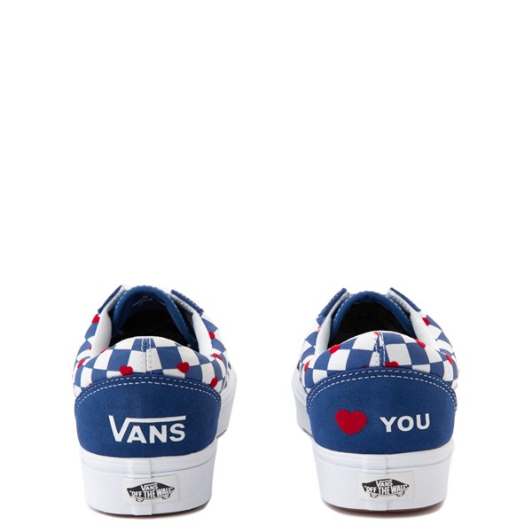 alternate view Vans Old Skool ComfyCush® Autism Awareness Checkerboard Skate Shoe - Blue / WhiteALT6