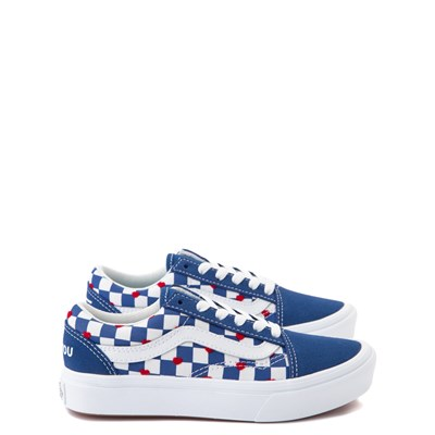 Main view of Vans Old Skool ComfyCush® Autism Awareness Checkerboard Skate Shoe - Blue / White