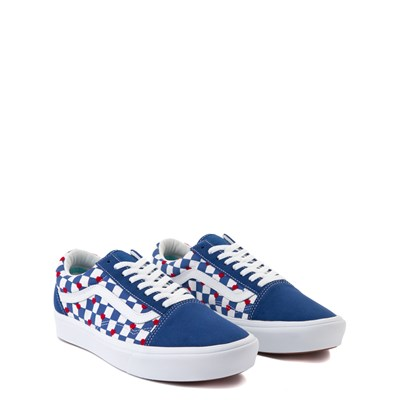 Alternate view of Vans Old Skool ComfyCush® Autism Awareness Checkerboard Skate Shoe - Blue / White