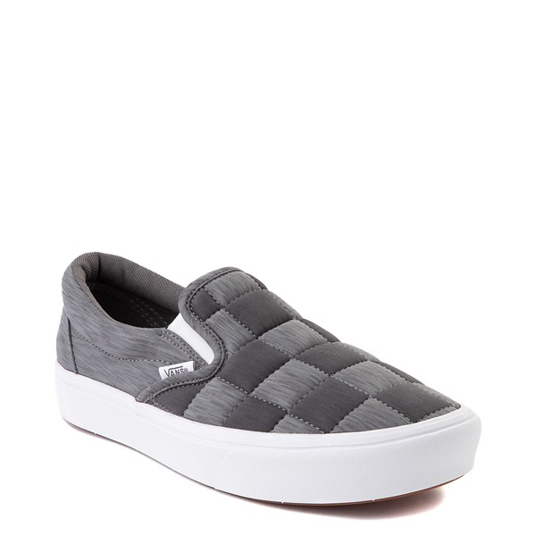 alternate view Vans Slip On ComfyCush® Autism Awareness Checkerboard Skate Shoe - GrayALT1