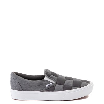 Main view of Vans Slip On ComfyCush® Autism Awareness Checkerboard Skate Shoe - Gray