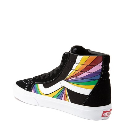Alternate view of Vans Refract Sk8 Hi Reissue Skate Shoe - Black / Multi