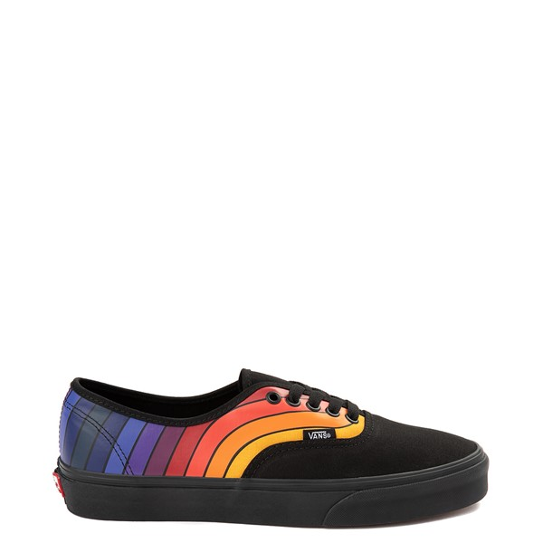 Main view of Vans Authentic Refract Rainbow Skate Shoe - Black
