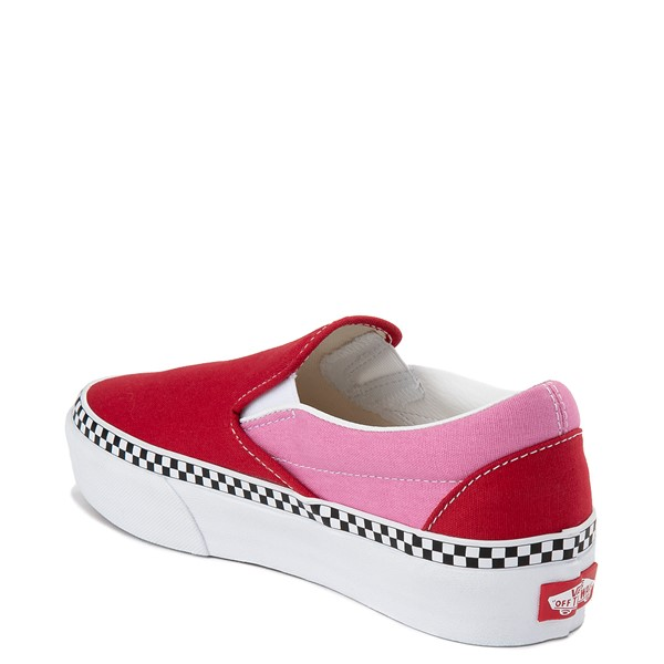 Alternate view of Vans Slip On Platform Skate Shoe - Chili Pepper / Fuchsia