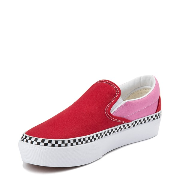 alternate view Vans Slip On Platform Skate Shoe - Chili Pepper / FuchsiaALT2
