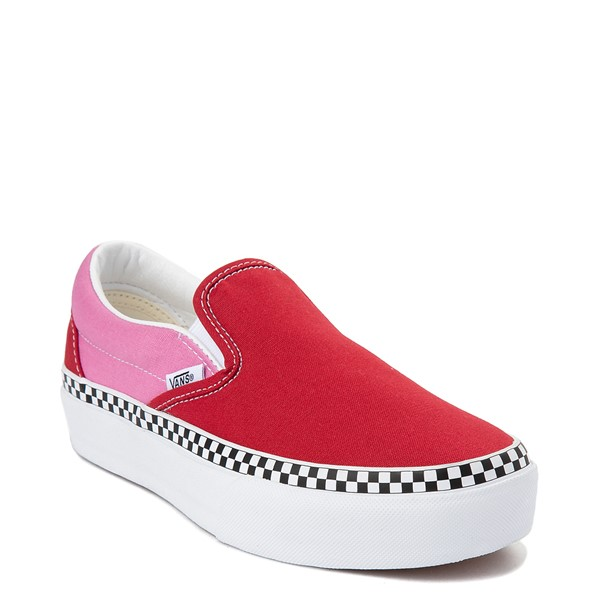 alternate view Vans Slip On Platform Skate Shoe - Chili Pepper / FuchsiaALT5
