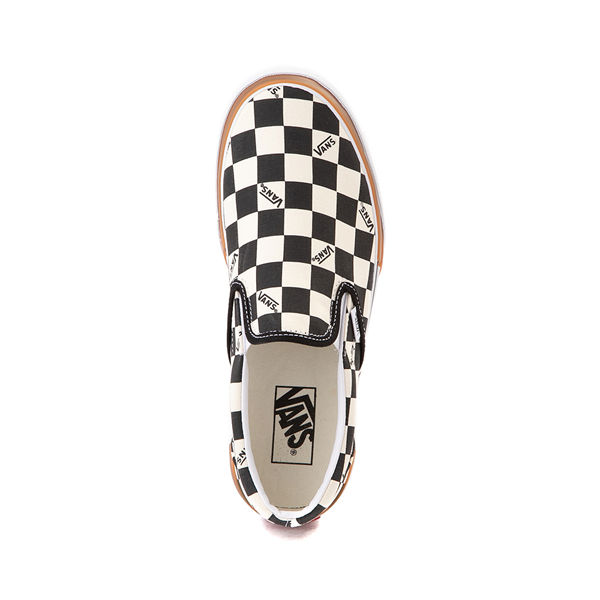 alternate view Vans Slip On Stacked Checkerboard Skate Shoe - Black / WhiteALT2