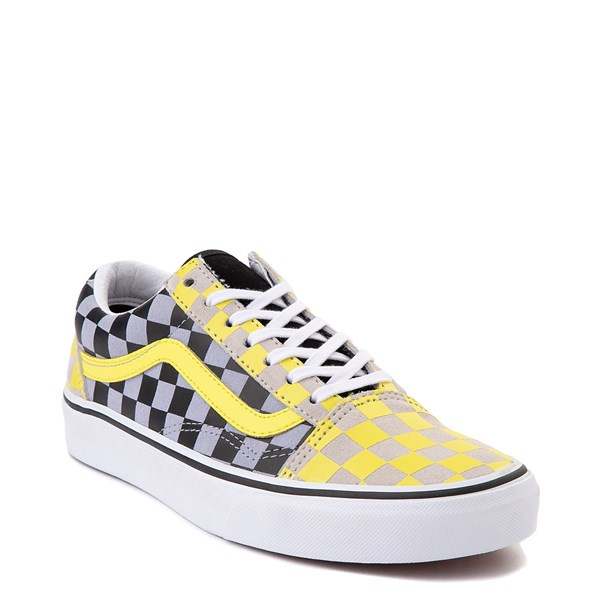 alternate view Vans Old Skool Checkerboard Skate Shoe - Yellow / Gray / BlackALT1