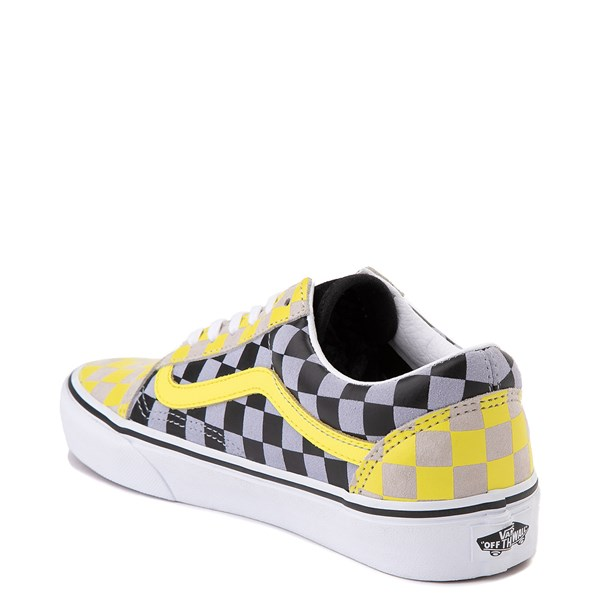 alternate view Vans Old Skool Checkerboard Skate Shoe - Yellow / Gray / BlackALT2