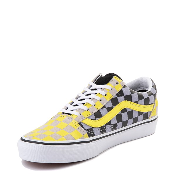 alternate view Vans Old Skool Checkerboard Skate Shoe - Yellow / Gray / BlackALT3