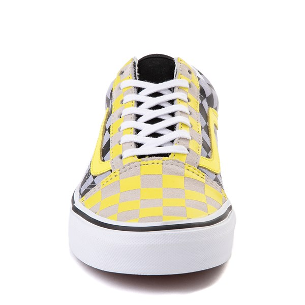 alternate view Vans Old Skool Checkerboard Skate Shoe - Yellow / Gray / BlackALT4