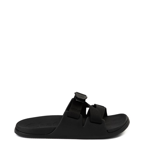 Main view of Mens Chaco Chillos Slide Sandal - Black