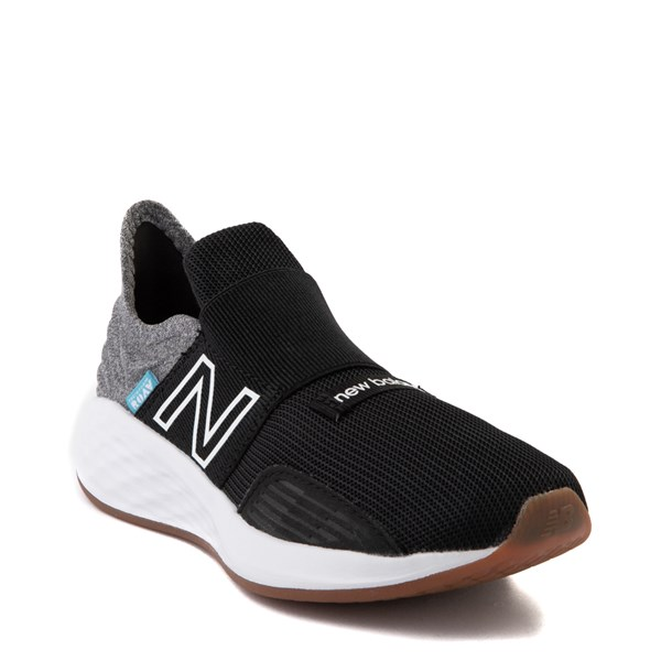 alternate view New Balance Fresh Foam Roav Slip On Athletic Shoe - Little Kid - Black / Light GrayALT1