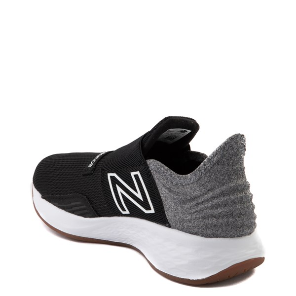 alternate view New Balance Fresh Foam Roav Slip On Athletic Shoe - Little Kid - Black / Light GrayALT2