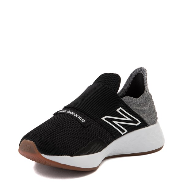 alternate view New Balance Fresh Foam Roav Slip On Athletic Shoe - Little Kid - Black / Light GrayALT3