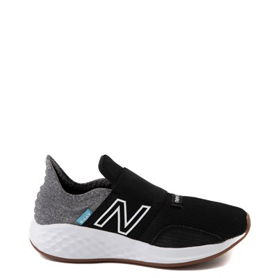 Main view of New Balance Fresh Foam Roav Slip On Athletic Shoe - Little Kid - Black / Light Gray