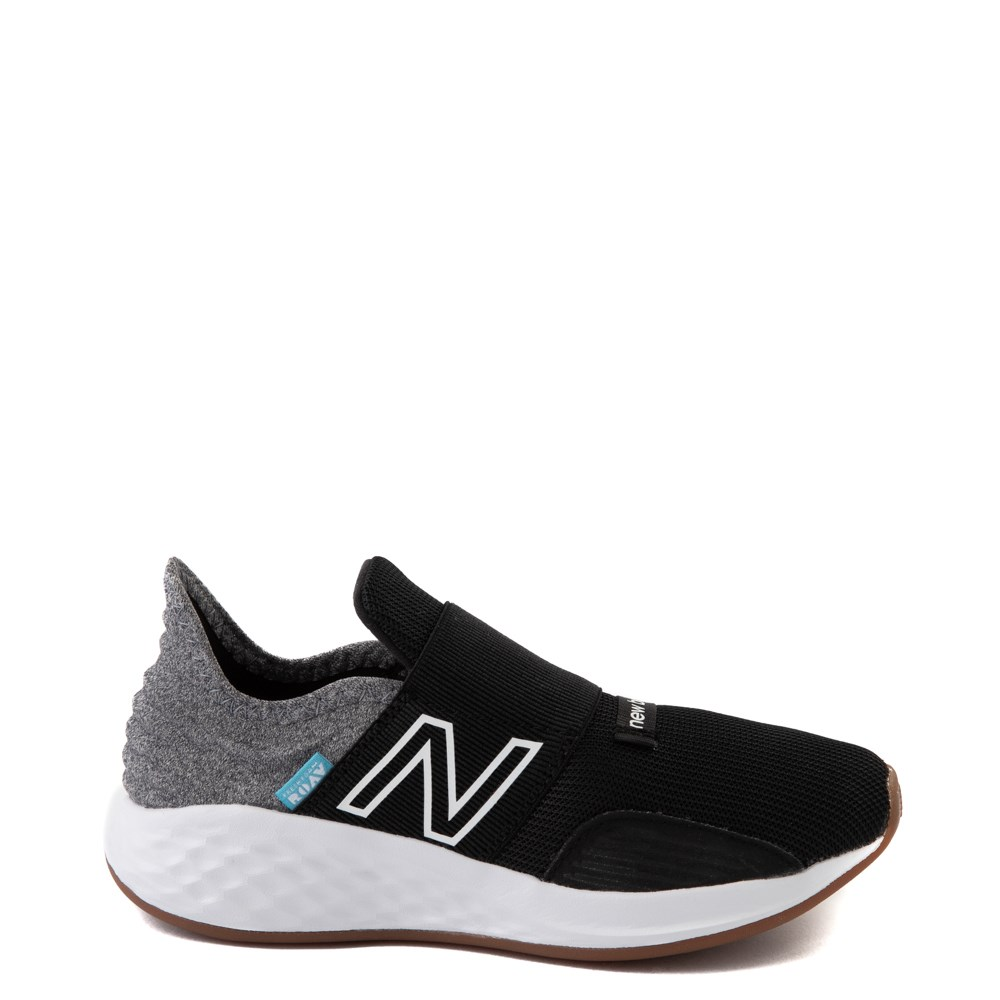 New Balance Fresh Foam Roav Slip On Athletic Shoe - Little Kid - Black / Light Gray