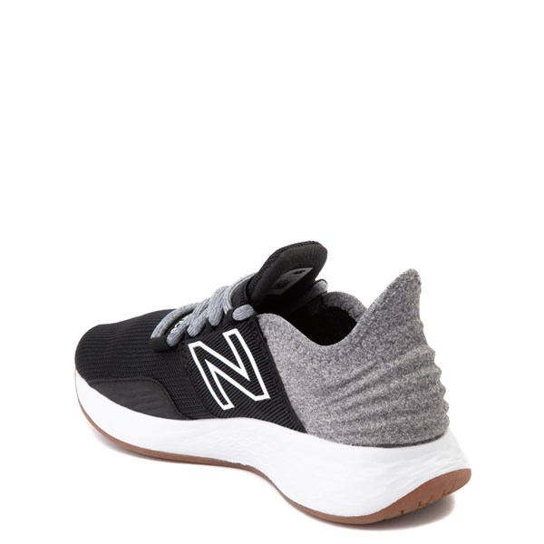 alternate view New Balance Fresh Foam Roav Athletic Shoe - Big Kid - Black / Light GrayALT2